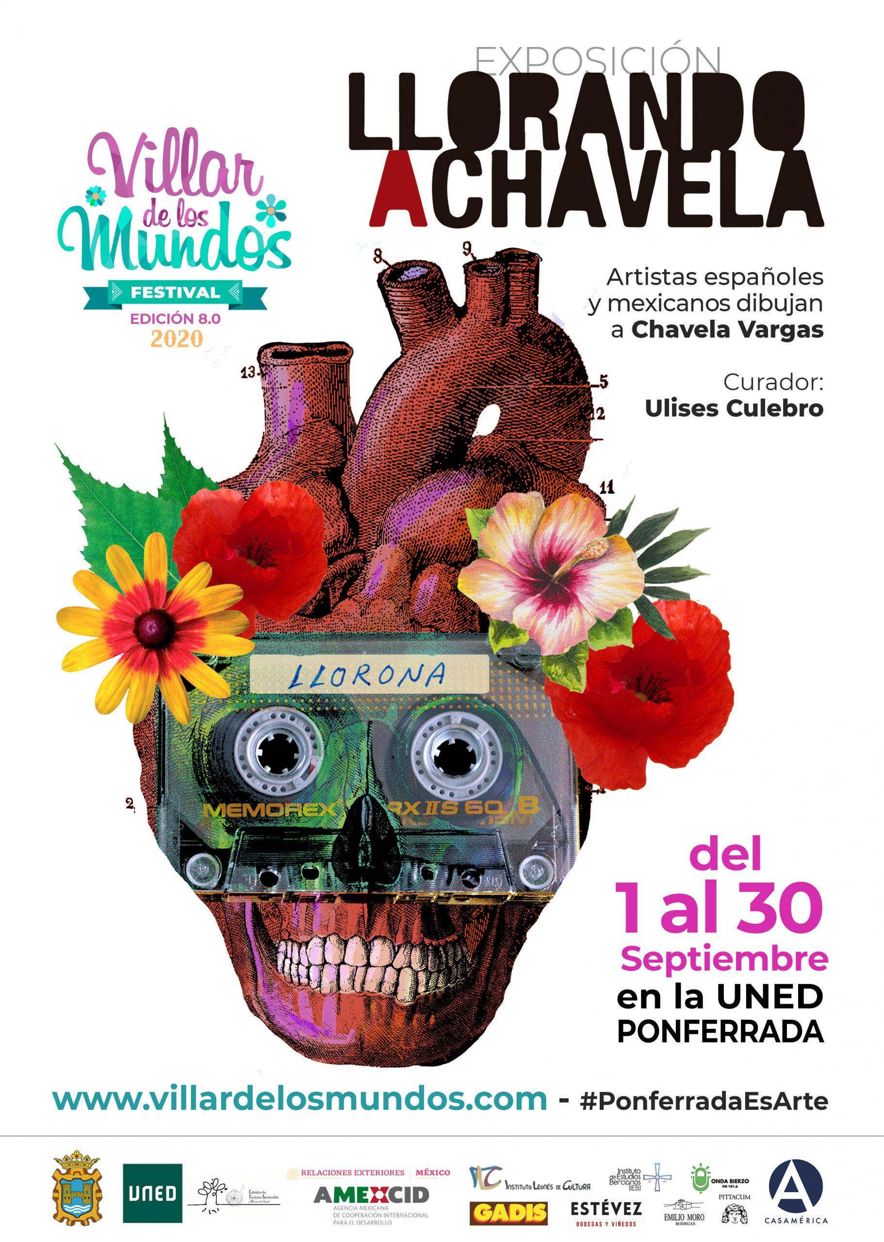 """Villar de los Mundos presenta la exposición """"llorando a Chavela"""" que podrás disfrutar durante septiembre en el edificio de la UNED 2"""